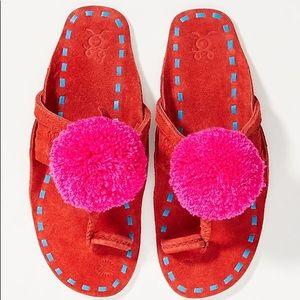 Figue x Anthropologie Leo Pom Pom Sandals